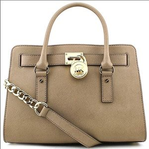 Michael Kors Hamilton East West Satchel-Dark Dune
